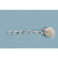 Kædeforlænger m/mønt, 20 mm, 925s, 1 stk.