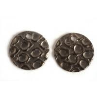 Mønt, hamret, topboret, 10 mm, BP, 2 stk.