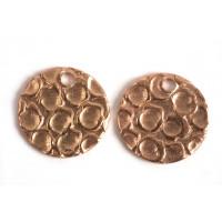 Mønt, hamret, topboret, 10 mm, RG, 2 stk.