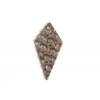 Lang harlekin, hamret 20x10 mm, BP, 2 stk.