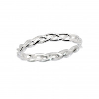 Braided Ring Silver