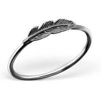 Feather Ring Black