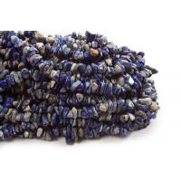 Lapis Lazulis, chips, ca. 5-13x3-12 mm, 1 streng