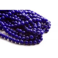 Farvet Jade, blå, 10 mm, 1 streng