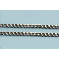 Panserkæde, ca. 5,5x3,8x1 mm, rustfrit stål, pr. meter