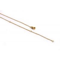 Ankerkæde m/lås, 47 cm, FG rustfrit stål, 1 stk.