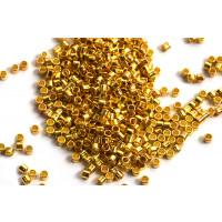 Seed beads, 1,5x1 mm, 11/0, guldfarvet, ca. 3 gram