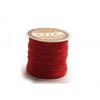 Polyestersnøre, 0,8 mm, rød, ca. 35 meter
