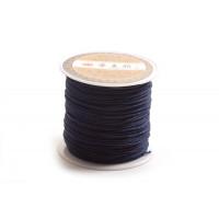 Polyestersnøre, 0,8 mm, mørkeblå, ca. 35 meter