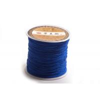 Polyestersnøre, 0,8 mm, blå, ca. 35 meter