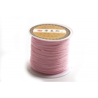 Polyestersnøre, 0,8 mm, lyserød, ca. 35 meter