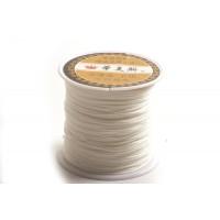 Polyestersnøre, 0,8 mm, hvid, ca. 35 meter