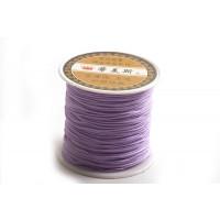 Polyestersnøre, 0,8 mm, lavendelfarvet, ca. 35 meter