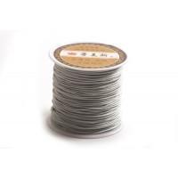 Polyestersnøre, 0,8 mm, grå, ca. 35 meter
