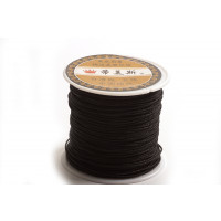 Polyestersnøre, 0,8 mm, sort, ca. 35 meter