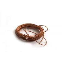 Lædersnøre, natur, 1 mm, 3 meter