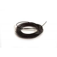 Lædersnøre, sort, 1 mm, 3 m
