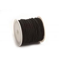 Elastiktråd, sort, 1 mm, 21 meter