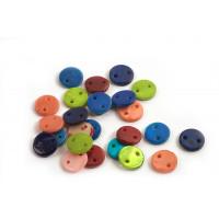Shell pearls, mønt, farvemix, ca.10x2 mm, 25 stk.
