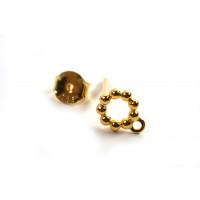 Ørestikker m/snoet ring og øje, ca. 6x6x1.7 mm, FG 925S, 1 par