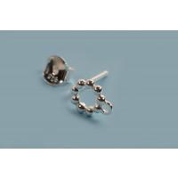 Ørestikker m/snoet ring og øje, ca. 6x6x1.7 mm, 925S, 1 par