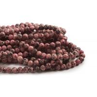 Labradorite, ca. 8 mm, rosa/sorte 1 streng