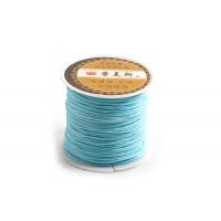 Polyestersnøre, 0,8 mm, turkisfarvet, ca. 35 meter