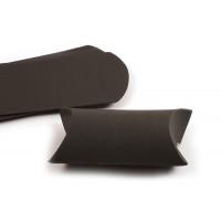 Smykkeæske, pap, ca. 6,5x9x2,5 cm, sort, 3 stk.