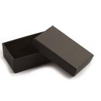 Smykkeæske, pap, ca. 8x5x2,7 cm, sort, 1 stk.