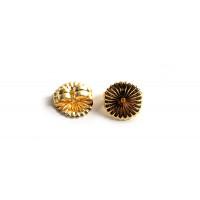Bagstopper til ørestikker, forgyldt med 18K guld, ca. 9,5x4,5 mm, 2 stk.