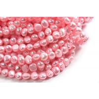Ferskvandsperler, barok, pink, ca. 10-11 mm, 1 streng