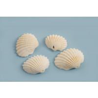 Muslingeskal, naturlig, ca. 10-13x14-18 mm, 4 stk.