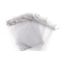Smykkepose, organza, grå, ca. 150x110 mm, 5 stk.