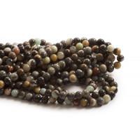 Amazonit, grålige, 8 mm, 1 streng