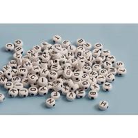 Alfabet perler, acryl, ca. 7x4 mm, ca. 220 perler