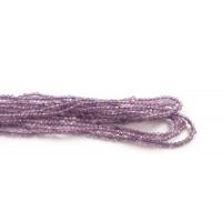 Amethyst, facet, 2 mm, 1 streng