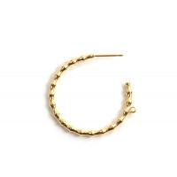 Hoops m/øje, ca. 31 mm, FG med 18 K guld, 1 par