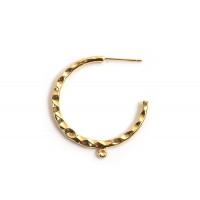 Hoops m/øje, ca. 30 mm, FG med 18 K guld, 1 par