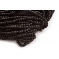 Blackstone, mat, sort, 6 mm, 1 streng