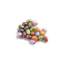 Ferskvandsperler, rice, pastelfarvet, ca. 5-7 mm, 20 stk.