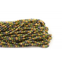 Ferskvandsperler, rice, lime/gul/grå, ca. 5-7 mm, 1 streng