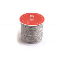 Tråd, sølvfarvet, ca. 0,8 mm, ca. 25 meter