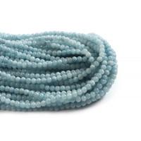 Jade, lyseblå, 6 mm, 1 streng