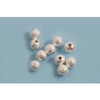 Perle, stardust, ca. 6 mm, FS, 10 stk.