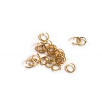 Ring/øsken, åben, 4x0,5 mm, FG rustfrit stål, ca. 25 stk.
