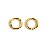Ring, snoet, ca. 8x1,2 mm, FG 925s, 2 stk.