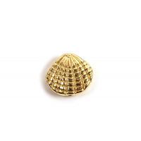 Perle, muslingeskal, ca. 12x13x4 mm, forgyldt med 18K guld, 2 stk.