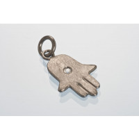 Hamsas hånd, børstet, m/krystal, ca. 22x12 mm, BP 925s, 1 stk.
