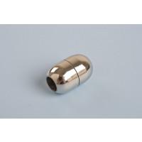 Magnetlås, oval, 15x10 mm, indv. 5 mm, rustfrit stål, 1 stk.