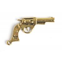 Pistol, 41x20x4,5 mm, antikguld, 1 stk.